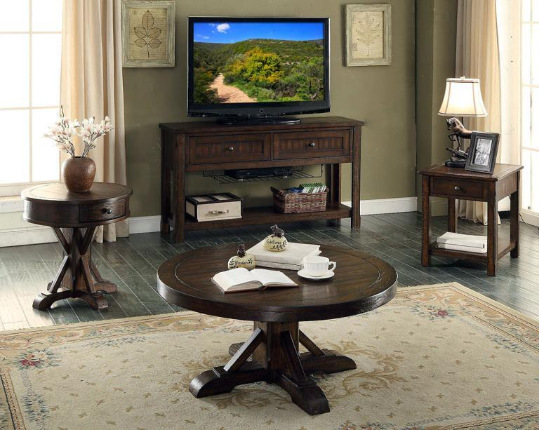 E C I Furniture Gettysburg 1475 05 Ret Round End Table With Drawer Becker Furniture World