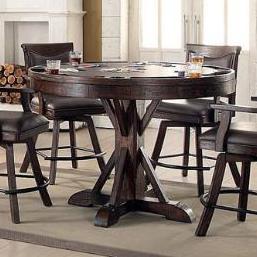 E.C.I. Furniture Gettysburg Counter Game Table - Item Number: 1475-05-RPGB+RPGT