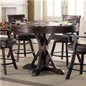 E.C.I. Furniture Gettysburg Round Counter Game Table with Flip Over Top