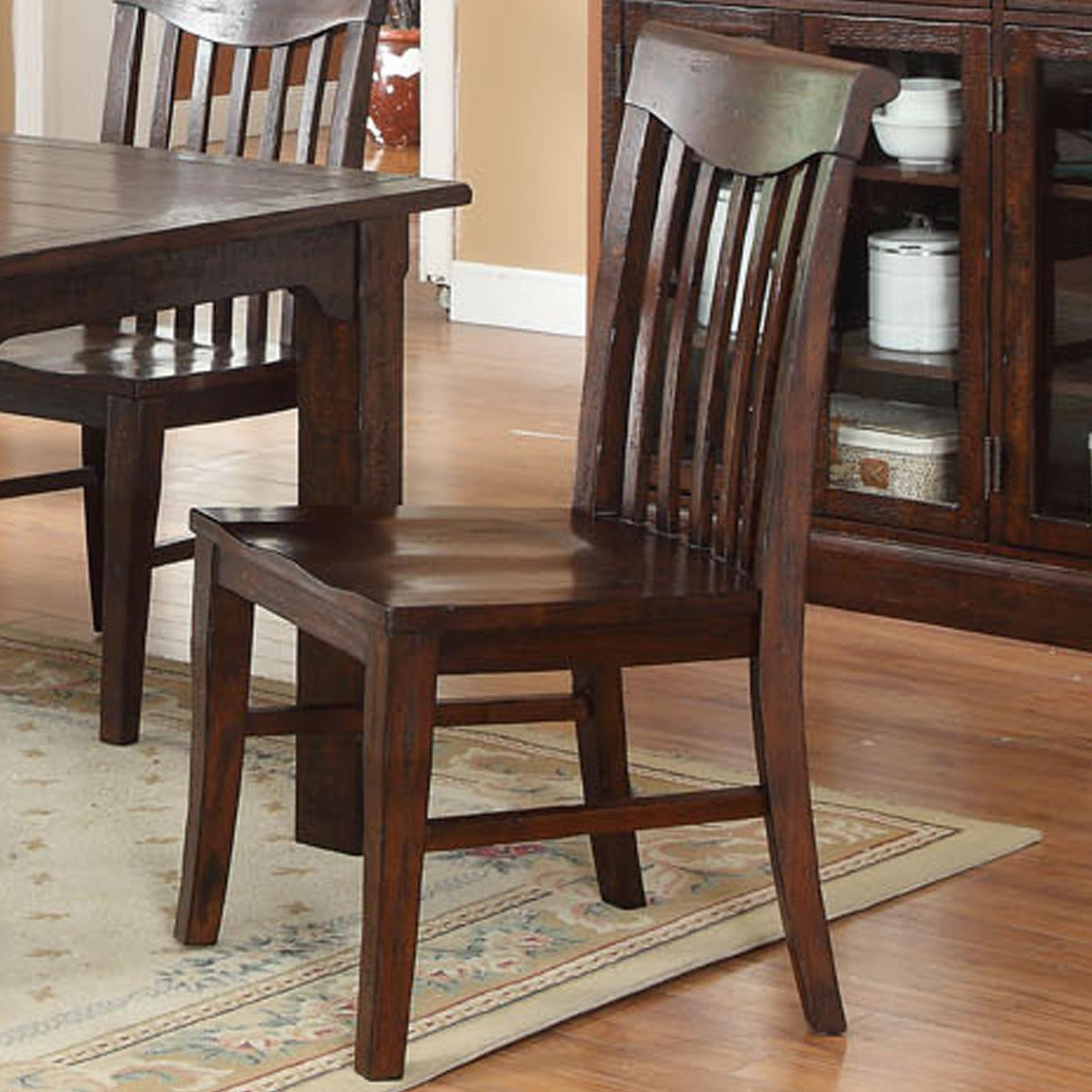 E C I Furniture Gettysburg 1475 05 S Dining Slat Back Side Chair Becker Furniture World