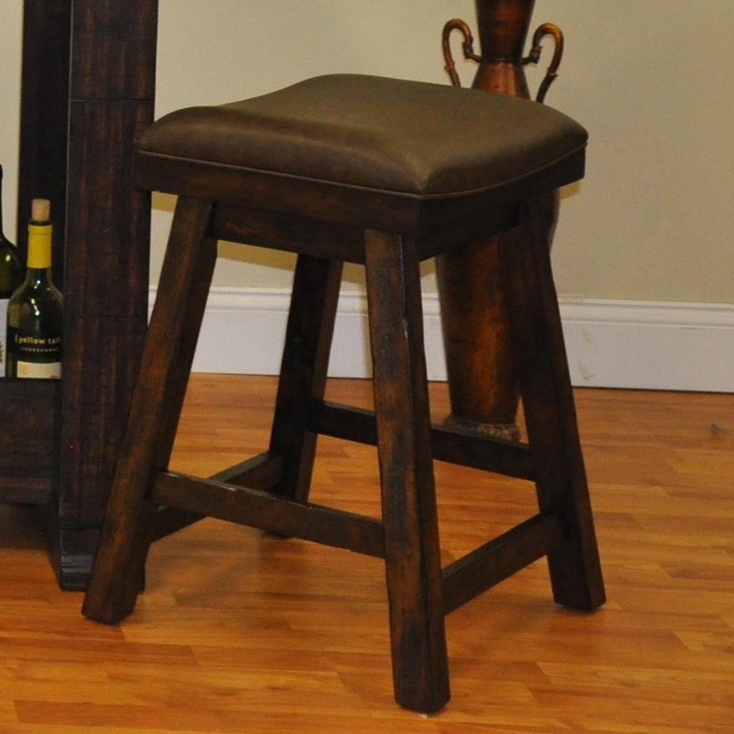 E.C.I. Furniture Gettysburg Counter Height Saddle Stool - Item Number: 1475-05-SDL24