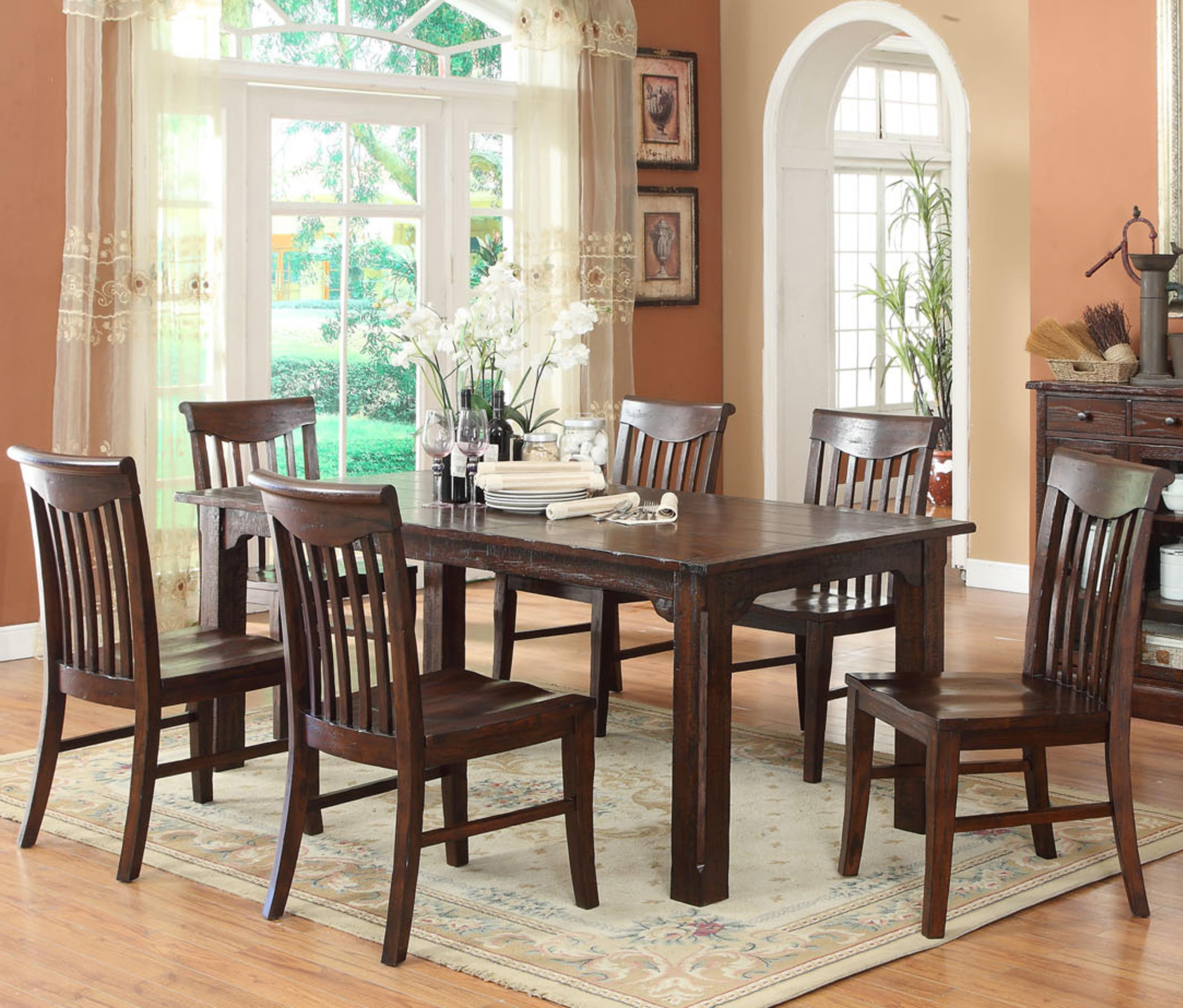 E C I Furniture Gettysburg Table And 4 Side Chairs Becker Furniture World Dining 5 Piece Sets