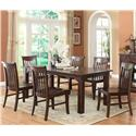 E.C.I. Furniture Gettysburg Table and 4 Side Chairs - Item Number: 1475-05-T+4xS