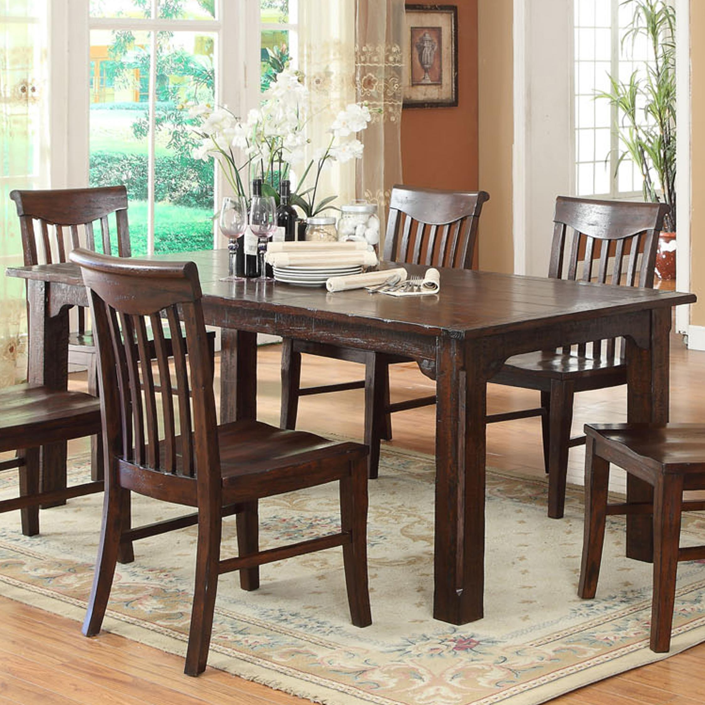 "E C I Furniture Gettysburg Dining Table with an 18"" Leaf"