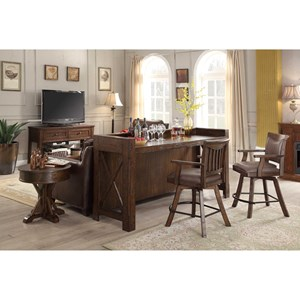 E.C.I. Furniture Gettysburg Bar Set With Stools