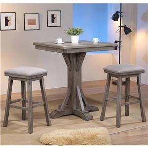 3-Piece Pub Table & Stool Set