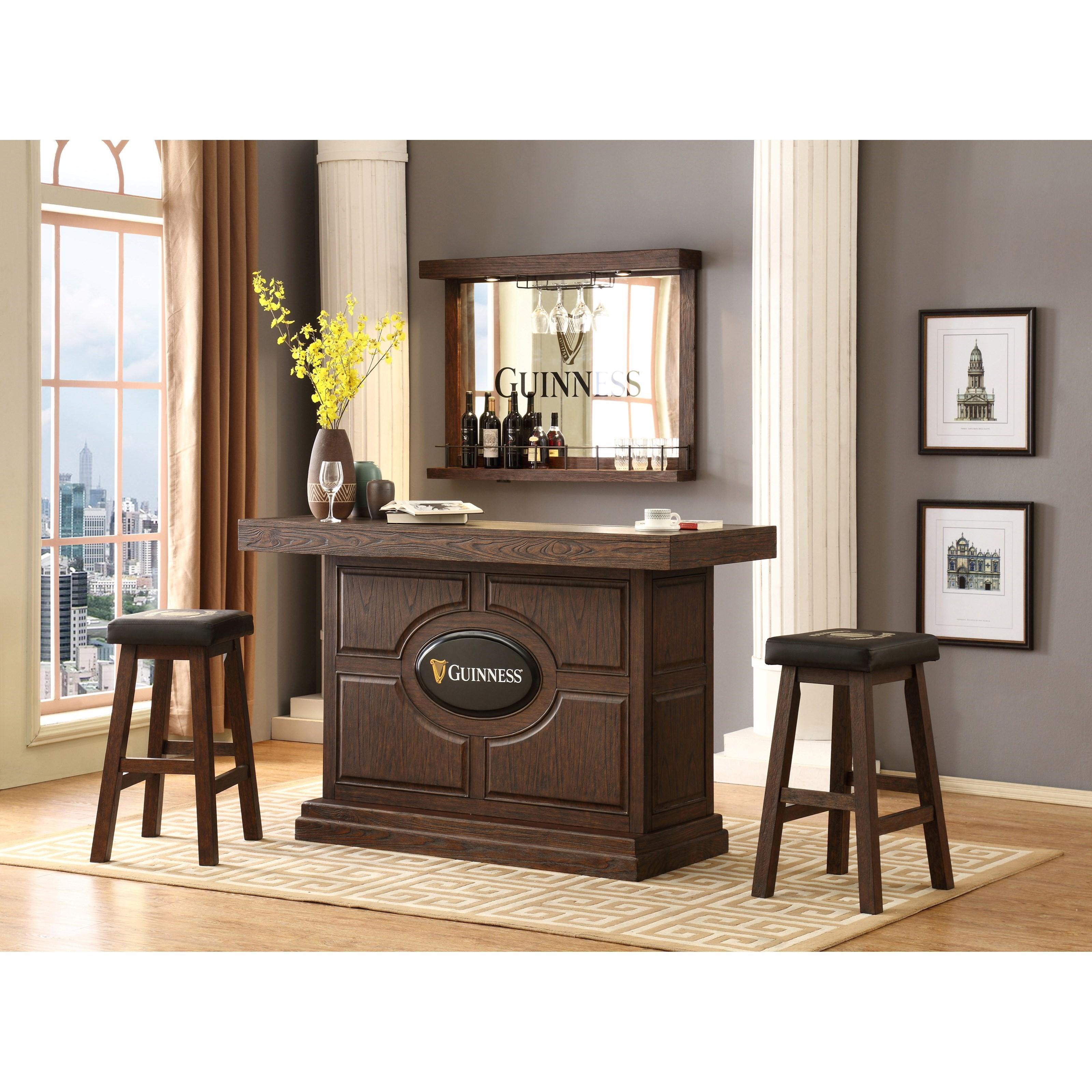 E C I Furniture Guinness Bar Guinness Bar Set With Stools