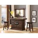 E.C.I. Furniture Guinness Bar Guinness Bar Set with Stools - Item Number: 0807-89-KDT/KDB+WB+2xSS