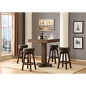 E.C.I. Furniture Guinness Bar 5 Pc Pub Table Set - Item Number: 0807-89-PGT+4xBLBS