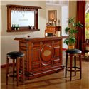 E.C.I. Furniture Guinness Bar Back Bar with Mirror - Shown with Bar & Stools