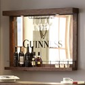 E.C.I. Furniture Guinness Bar Back Bar Mirror - Item Number: 0807-89-WB