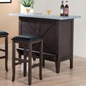 E.C.I. Furniture Hamilton Faux Zinc Top Bar - Item Number: 5445-50-BT UV
