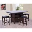E.C.I. Furniture Hamilton Faux Zinc Top Kitchen Island - Item Number: 5445-50-IB+IT