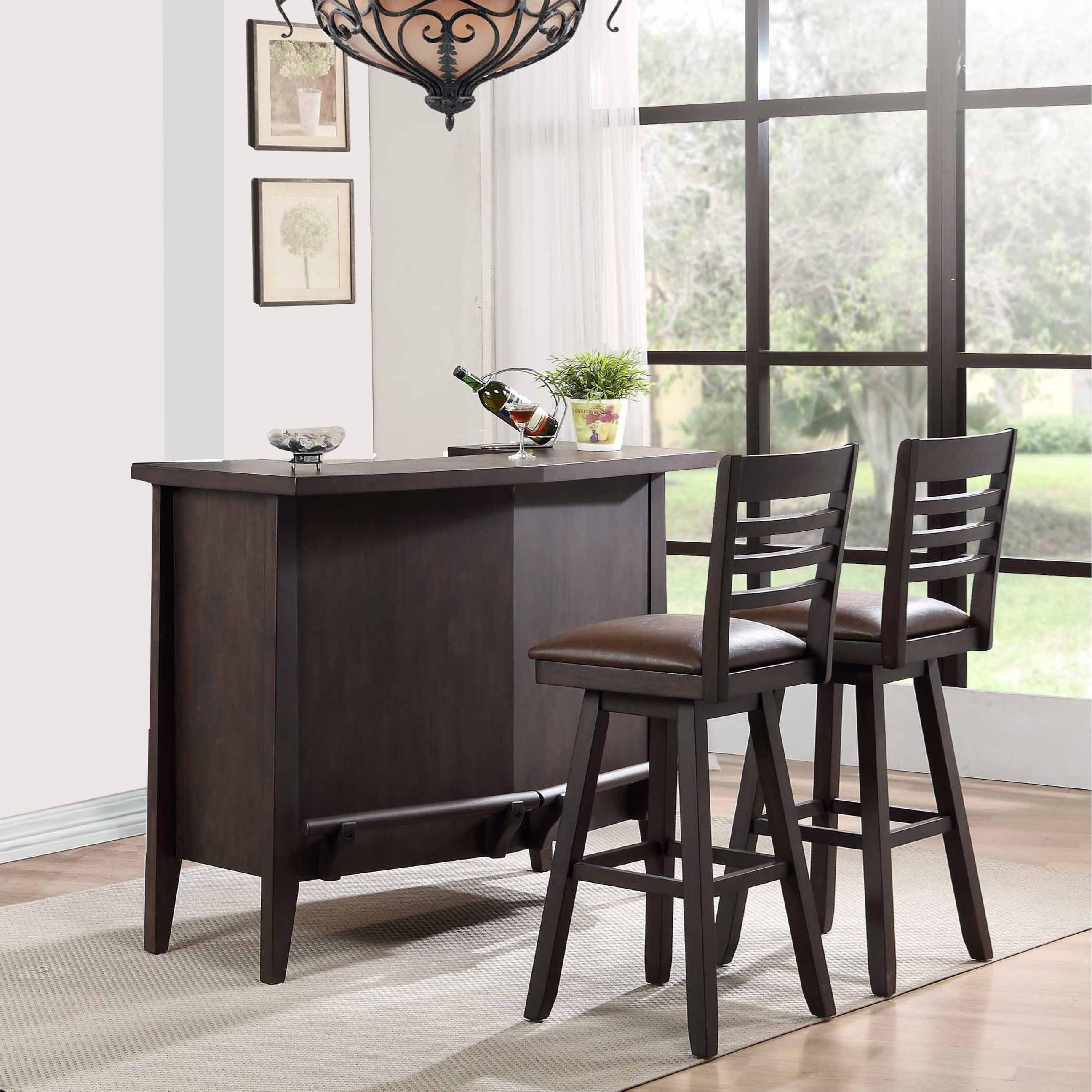 E.C.I. Furniture Lexington Bar and Stool Set - Item Number: 3095-50-B+T+2x3095-50-BS