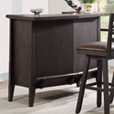 E.C.I. Furniture Lexington Serving Bar with Footrest and Wine Rack
