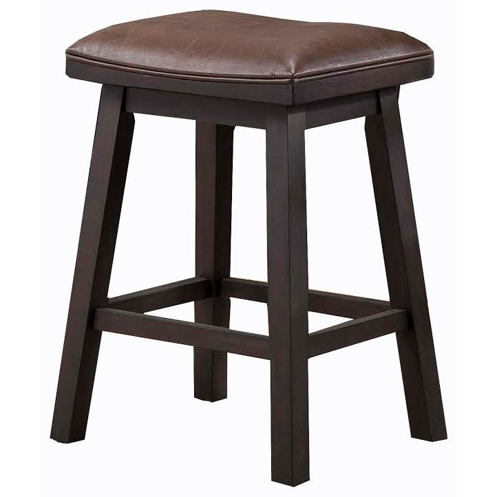 "E.C.I. Furniture Lexington 24"" Saddle Stool - Item Number: 3095-50-SDCS"