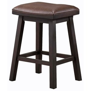 "E.C.I. Furniture Lexington 24"" Saddle Stool"