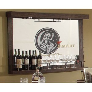 E.C.I. Furniture Miller High Life Miller Mirror Wall Bar