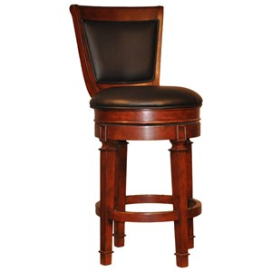 Swivel Barstool with Upholstered Seat and Back