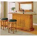 E.C.I. Furniture Nova Bar Mirror with Bottle Display - Shown with Bar and Stools