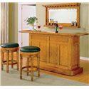 E.C.I. Furniture Nova Bar with Stools - Item Number: 1101-03-T/B+2x1320-03-BLBS