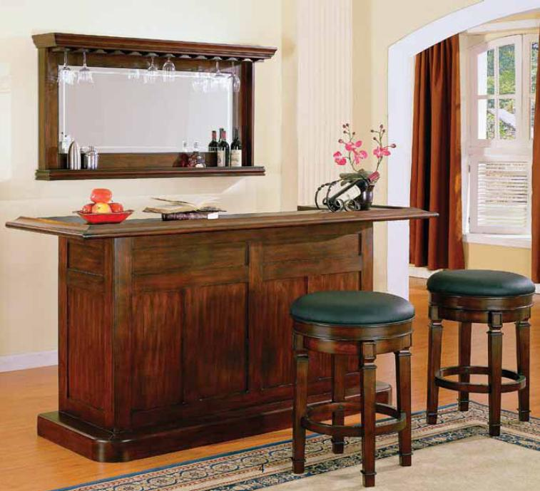 E.C.I. Furniture Nova Bar with Stools - Item Number: 1101-35-T/B+2x1320-35-BLBS