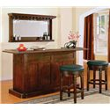 E.C.I. Furniture Nova Classic Bar with Drawer and Door Storage - Shown with Stools and Mirror