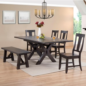 6 Pc Dining Set with a Bench