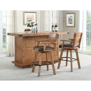 E.C.I. Furniture Shenandoah - 0515 Bar Set With Stools