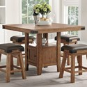 E.C.I. Furniture Shenandoah Counter Height Table - Item Number: 0515-CT+CB