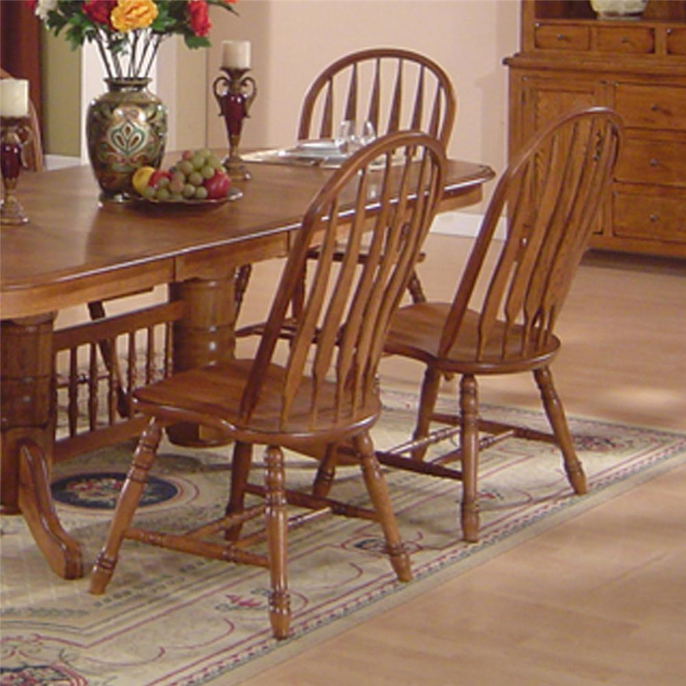 E C I Furniture Solid Oak Dining Solid Oak Dining Table Arrowback Chair Set Becker