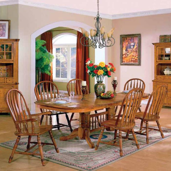 E.C.I. Furniture Stafford 7 Piece Table U0026 Chairs Set   Item Number: 6010 03