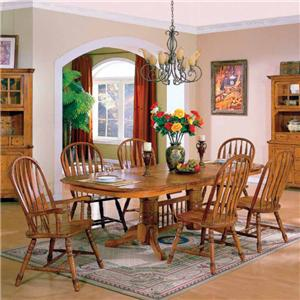 E.C.I. Furniture Stafford 7 Piece Table & Chairs Set