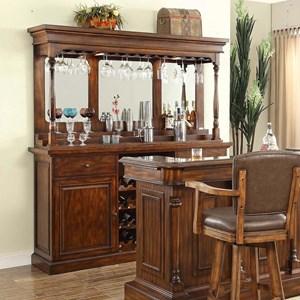 E.C.I. Furniture Trafalgar - 0403 Back Bar Base + Hutch