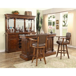 E.C.I. Furniture Trafalgar - 0403 Bar Unit W/Hutch