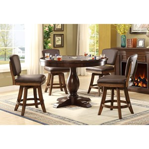 E.C.I. Furniture Trafalgar - 0403 Pub Table with Swivel Stool Set