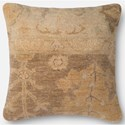 """ED Ellen DeGeneres Crafted by Loloi Dhurri Style 22"""" X 22"""" Cover w/Poly  Pillow - Item Number: PSETP4038BRBEPIL3"""
