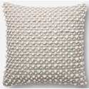 "ED Ellen DeGeneres Crafted by Loloi Woven  Pillows 22"" X 22"" Cover w/Down Pillow - Item Number: DSETP4012SLWHPIL3"