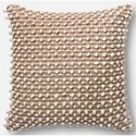 """ED Ellen DeGeneres Crafted by Loloi Woven  Pillows 22"""" X 22"""" Cover w/Down Pillow - Item Number: DSETP4012TAWHPIL3"""