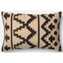 "ED Ellen DeGeneres Crafted by Loloi Woven  Pillows 13"" X 21"" Cover w/Down  Pillow - Item Number: DSETP4018IVBLPIL5"