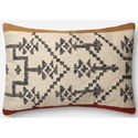 "ED Ellen DeGeneres Crafted by Loloi Woven  Pillows 1'-4"" X 2'-2"" Cover w/Down Pillow - Item Number: DSETP4022CARUPI15"