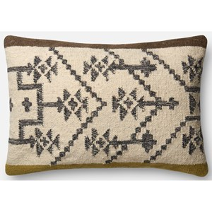 "ED Ellen DeGeneres Crafted by Loloi Woven  Pillows 1'-4"" X 2'-2"" Cover w/Down Pillow"