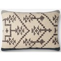 "ED Ellen DeGeneres Crafted by Loloi Woven  Pillows 1'-4"" X 2'-2"" Cover w/Down Pillow - Item Number: DSETP4022SLNVPI15"