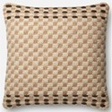 "ED Ellen DeGeneres Crafted by Loloi Woven  Pillows 22"" X 22"" Cover w/Down Pillow Pillow - Item Number: DSETP4024CFMLPIL3"