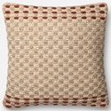 "ED Ellen DeGeneres Crafted by Loloi Woven  Pillows 22"" X 22"" Cover w/Down  Pillow - Item Number: DSETP4024RUMLPIL3"