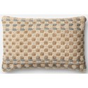 "ED Ellen DeGeneres Crafted by Loloi Woven  Pillows 13"" X 21"" Cover w/Down Pillow - Item Number: DSETP4024SLMLPIL5"