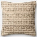 "ED Ellen DeGeneres Crafted by Loloi Woven  Pillows 22"" X 22"" Cover w/Down  Pillow - Item Number: DSETP4027IVSLPIL3"