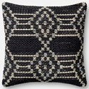 "ED Ellen DeGeneres Crafted by Loloi Woven  Pillows 22"" X 22"" Cover w/Down Pillow - Item Number: DSETP4028NVMLPIL3"