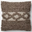 """ED Ellen DeGeneres Crafted by Loloi Woven  Pillows 18"""" X 18"""" Cover w/Down Pillow - Item Number: DSETP4029TA00PIL1"""