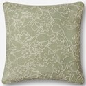 "ED Ellen DeGeneres Crafted by Loloi Woven  Pillows 22"" X 22"" Pillow Cover w/Down  - Item Number: DSETP4044SG00PIL3"